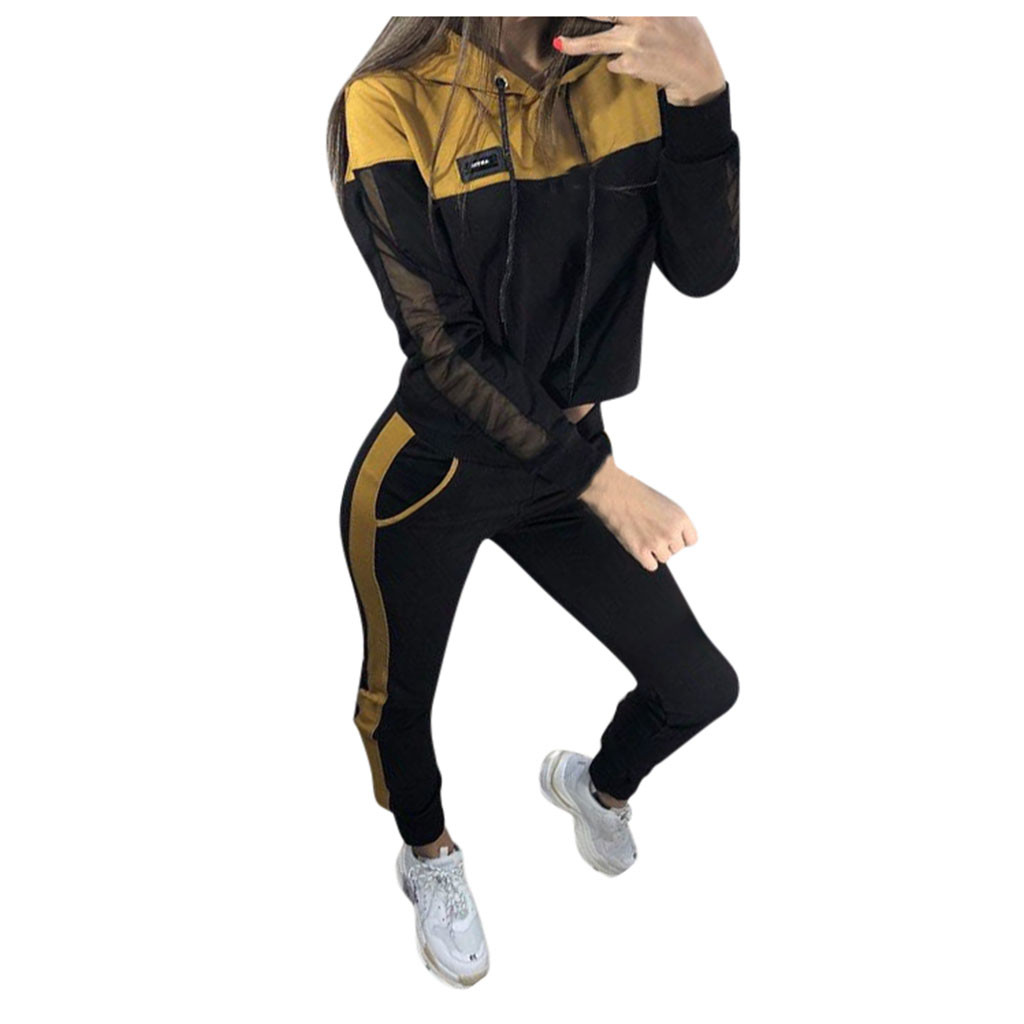 Tracksuit for women Solid Color Hooded Sweatshirt and pant Tracksuit Slim Soft Leisure Fashion Simplicity Sport Suit women