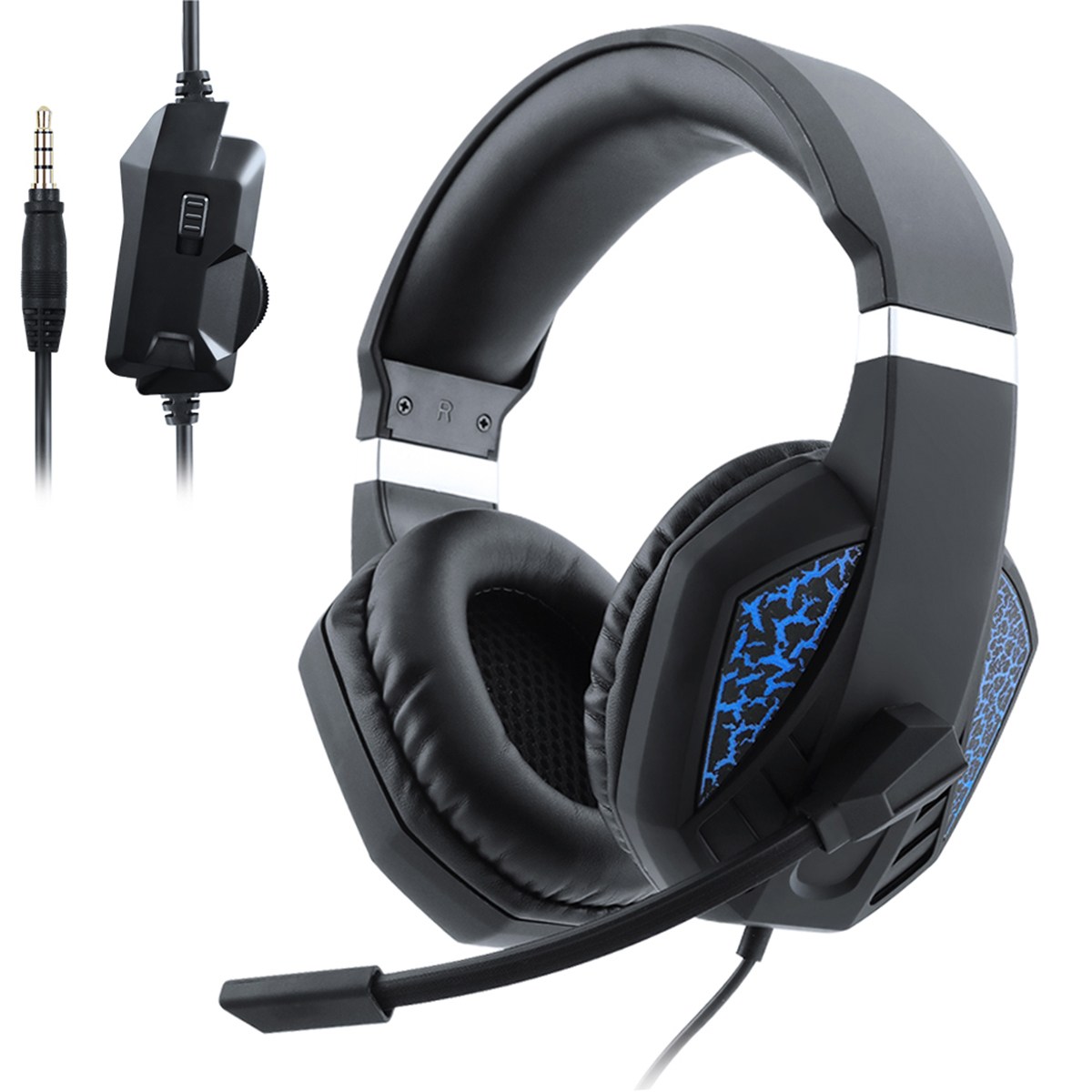 3.5mm USB Wired Gaming Headset Stereo Surround On Ear Headphone With Mic Professional Computer​ Headphone For PS4 Xbox One PC image