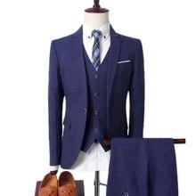 Blazers Jas Broek Vest Sets / 2021 Fashion New Men Casual Business Boutique Pak  3 Stuks suits
