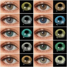 HIDROCOR Colored Contact Lens for Eyes 1 Pair Natural Eye Contacts Yearly Green Contact Lenses Color Lens Blue Gray Eye Contacts