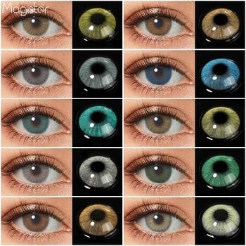 HIDROCOR kolorowe szkła kontaktowe dla oczu 1 para naturalne oczy kontakty roczne zielone soczewki kontaktowe kolorowe szkła niebieskie szare oczy kontakty tanie i dobre opinie CN (pochodzenie) 14 0 Dwa kawałki 0 06-0 15 mm HEMA Piękna źrenica QUEEN natural eye color lens colored contact lenses for eyes