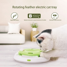 2020 New Electric Cat Toy Automatic Rotating Feather Smart Interactive Cat Toy Catching Teaser Stick Pet Toy Interactive Cat Toy automatic 360 degree rotating laser light cat interactive toy