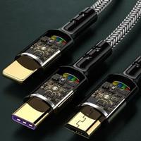 USB kablosu 5ASuper şarj 3 in 1 için iPhone12 /11 Pro/ Max/mikro Oppo/vivo/C tipi kablo için Huawei/Xiaomi/onur/Samsung