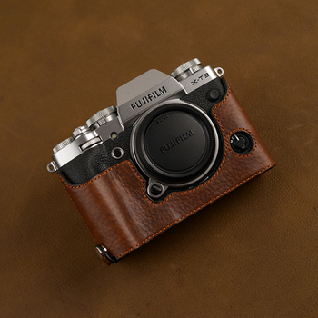 Genuine Leather Photo Camera Case Handmade Half Body Bag Bottom Cover For SONY XT3 X-T3 Open Battery Design Protective sleeve