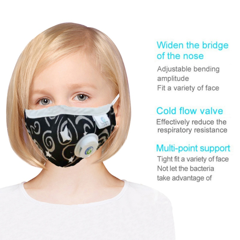 New Kids Mask With Breath Design Replaceable Filter Anti Dust Mouth Mask PM2.5 Respirator Kid Face Mask