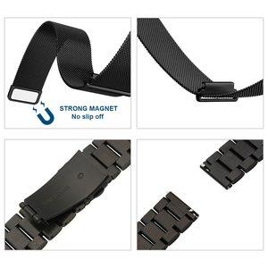 Image 5 - 22mm uniwersalna pętla Milanese do Samsung Gear S3 Classic/S3 Frontier/galaxy watch 46mm regulowany pasek ze stali nierdzewnej