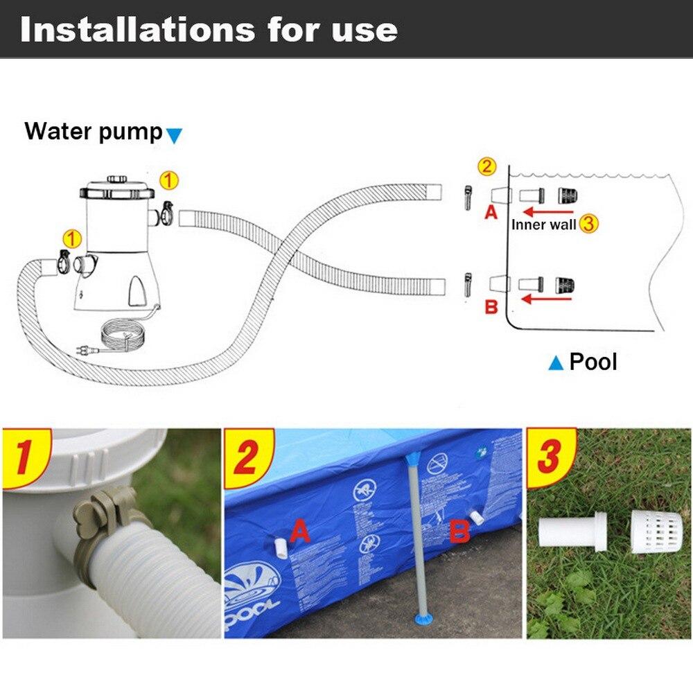 Pompe de filtre de piscine pompe de filtre de piscine électrique Durable et réutilisable filtre de piscine pratique purificateur d'eau ue UK US