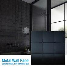 Anti-Soft-Bag Wallpaper Wall-Tiling 3D Waterproof Metal Floor-Ceramic-Tile Bedroom Self-Adhesive
