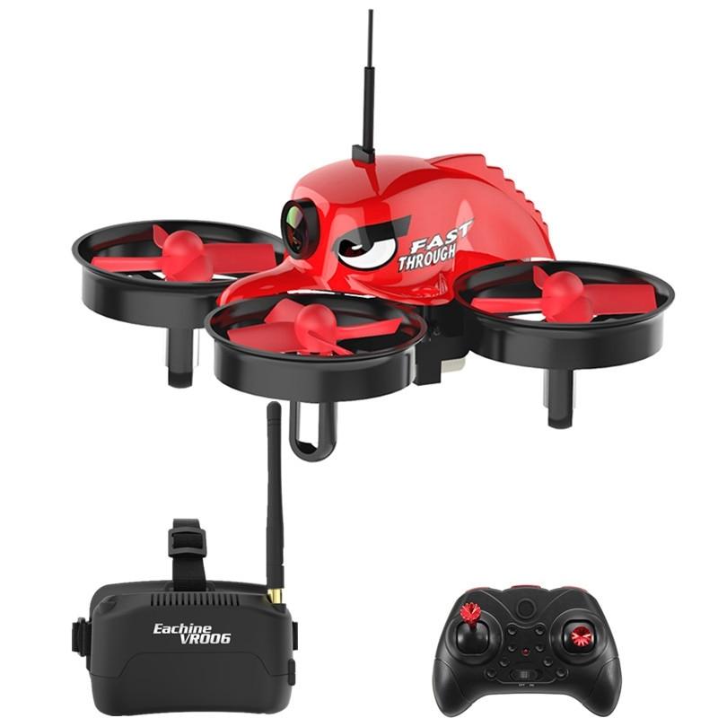 Original E013 Micro Mini Quadcopter 5.8G 4 0CH 1000TVL Camera VR006 VR-0 06 3 Inch Goggles RC Drone Models Yellow Red