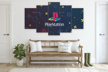 Modern Home Decor Posters PlayStation Logo 5 Piece Canvas Prints Poster Modular Wall Art Canvas Painting Picture for Living Room home decor canvas poster hotline miami painting wall art modern 5 piece oil painting picture panel print b 053