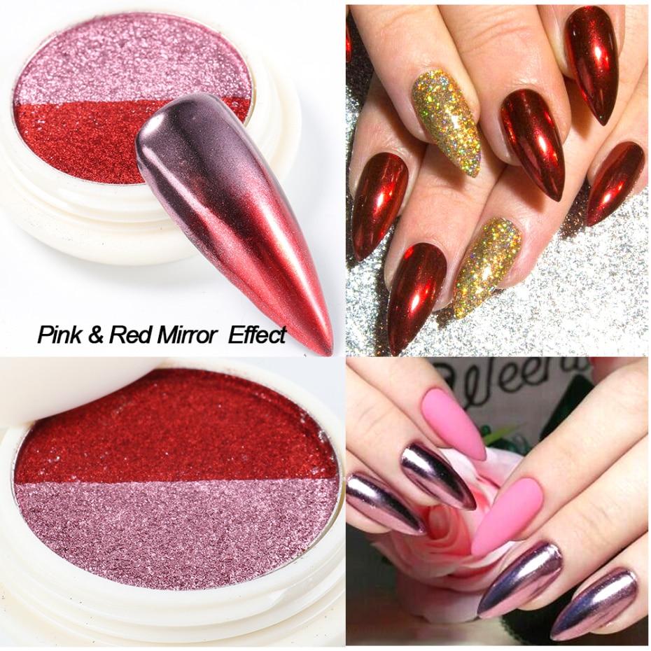 Mirror Powder Metallic Nail Glitter 1-2