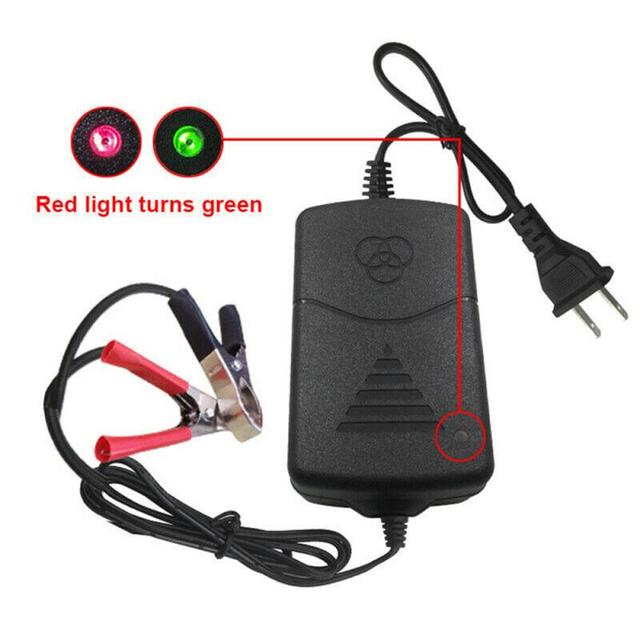 1 Pack 12V Motorcycle Smart Battery Charger 12V Battery Charger Moto Lead Acid AGM Gel VRLA Smart Charging Adapter Charger