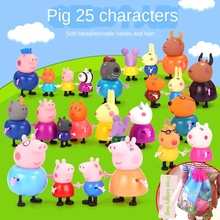 Pig Children Paige Over Every Family Toys Set Paige Peggy A Family of Four House Peppa Pig Full Doll paige pубашка