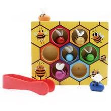 Монтессори Развивающие деревянные игрушки для детей в виде пчелиных