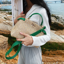 Small Straw Crossbody Shoulder Bags for Beautiful Women 2021 Summer Fashion New Brand Travel Beach Handbags and Purses