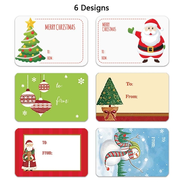 Adhesive Christmas Gift Name Stickers 6 Designs 2