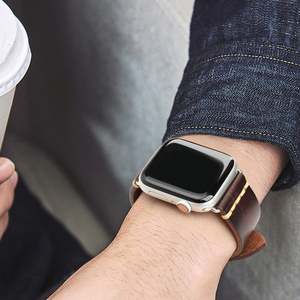 Image 5 - בעבודת יד איטלקי פרה עור רצועת שעון להקת עבור אפל שעון 44mm 40mm 42mm 38mm סדרת SE 6 5 4 3 2 iWatch Watchbands
