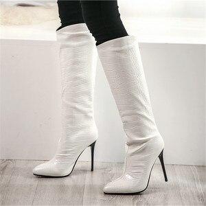 Image 5 - MORAZORA bottes hautes pour femmes, chaussures sexy à talons hauts fins, couleurs unies, pour fêtes, mariages, automne, hiver, 2020