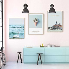 New Canvas Painting Beach Flower Sea Wall Art Nordic Posters And Prints Home Decoration For Living Room