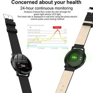 Image 5 - Reloj inteligente CF18 IP67 para hombre y mujer, reloj inteligente deportivo con recordatorio y Bluetooth