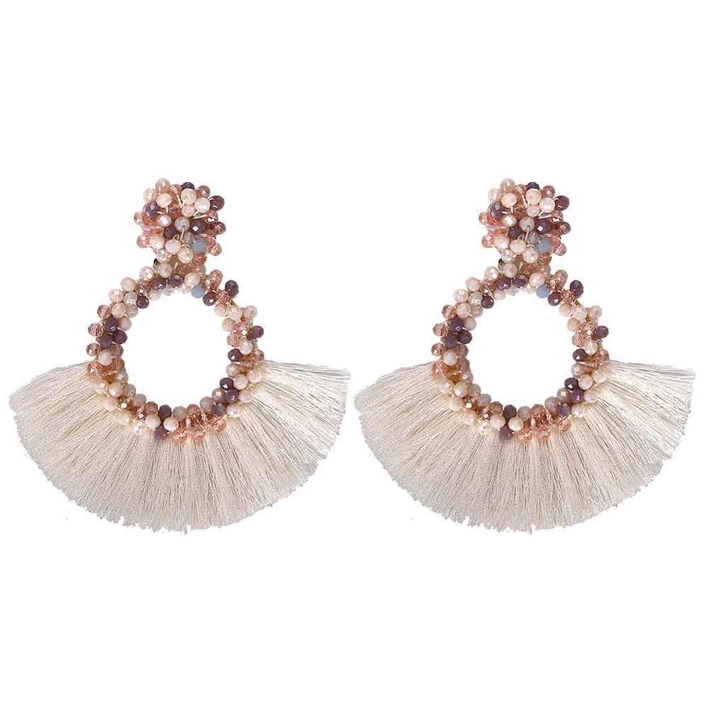 Women Lady Fashion Jewelry Gold Long Clous Tassel Star Drop Dangle Earrings Hot