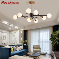 Modern kitchen fixture nordic lighting ?inimalist chandelier lighting living room led chandelier bedroom ceiling lamp glass ball