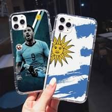 Uruguay arjantin brezilya kolombiya bayrağı telefon kılıfı şeffaf iPhone 11 12 mini pro XS MAX 8 7 6 6S artı X 5S SE 2020 XR