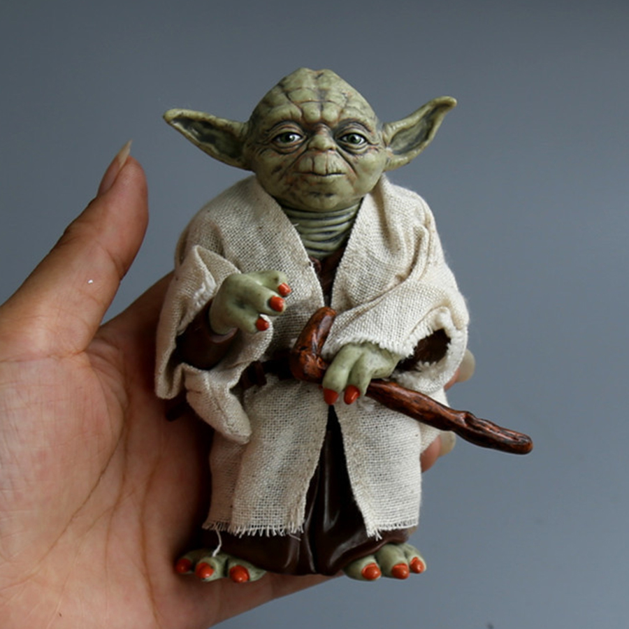 Star Wars Monster Yoda Darth Vader Action Figure Doll Toys The Force Awakens Jedi Master Yoda Anime Figures Lightsaber