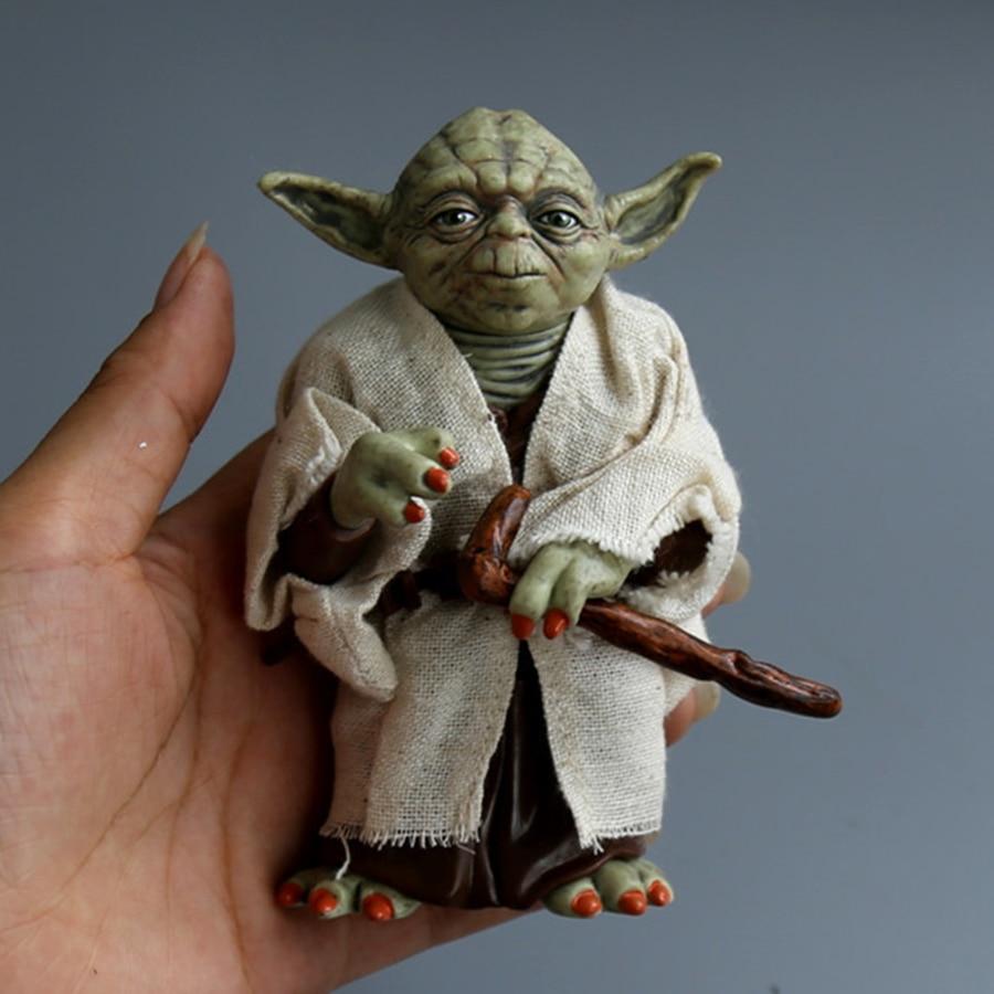 Star Wars Monster Yoda Darth Vader Action Figure Doll Toys The Force Awakens Jedi Master Yoda Anime Figures Lightsaber