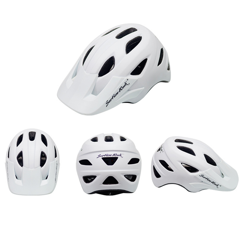 Cycling Helmet With Visor Ultralight MTB Road Bike EPS Helmets Mountain Bicycle Safety Integrally-mold Head Cover Casco BC0081 (7)
