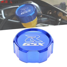With Logo gsxr CNC Front Brake Fluid Cap Master Cylinder Reservoir Cover For Suzuki Gsxr 600 GSX R 750 GSXR600 GSX R 750 1000