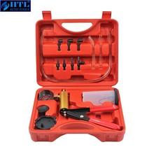 Brake Bleeder & Hand Held Vacuum Pump Tester Kit Suitable Automotive Vacuum Gauge and Brake Exhaust Kit  2 in 1 Copper Pump Body