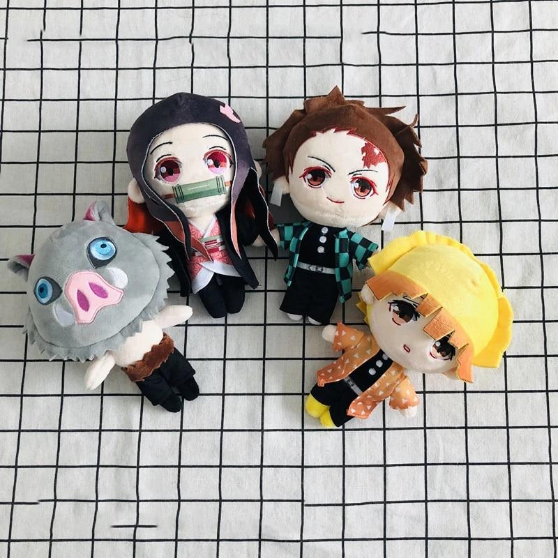 Kimetsu no Yaiba Kamado Tanjirou Nezuko Plush Cute Stuffed Doll Demon Slayer