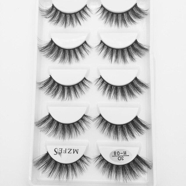 Wholesale 10/50 Boxes 3D Mink Eyelashes Natural Thick False Eye Lashes Mink Lashes Soft Fake Eyelash Wispy Makeup Cilios H13 6