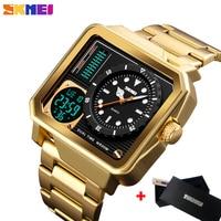 SKMEI Fashion Sport Watch Men's Casual Digital Electronic Quartz Clock Stainless Steel Strap Alarm Wristwatch Relogio Masculino
