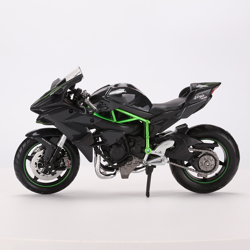 Maisto 1: 12 Kawasaki H2R <font><b>Model</b></font> Alloy <font><b>Motorcycle</b></font> <font><b>Model</b></font> Locomotive Decoration Metal image