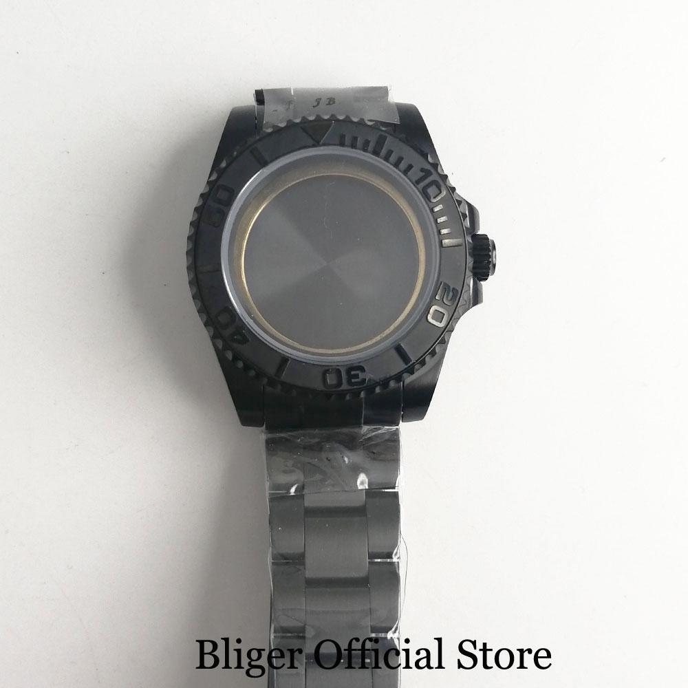 BLIGER High Quality 40mm Watch Case + Watch Bracelet Sapphire Glass Fit ETA 2836 MIYOTA Movement