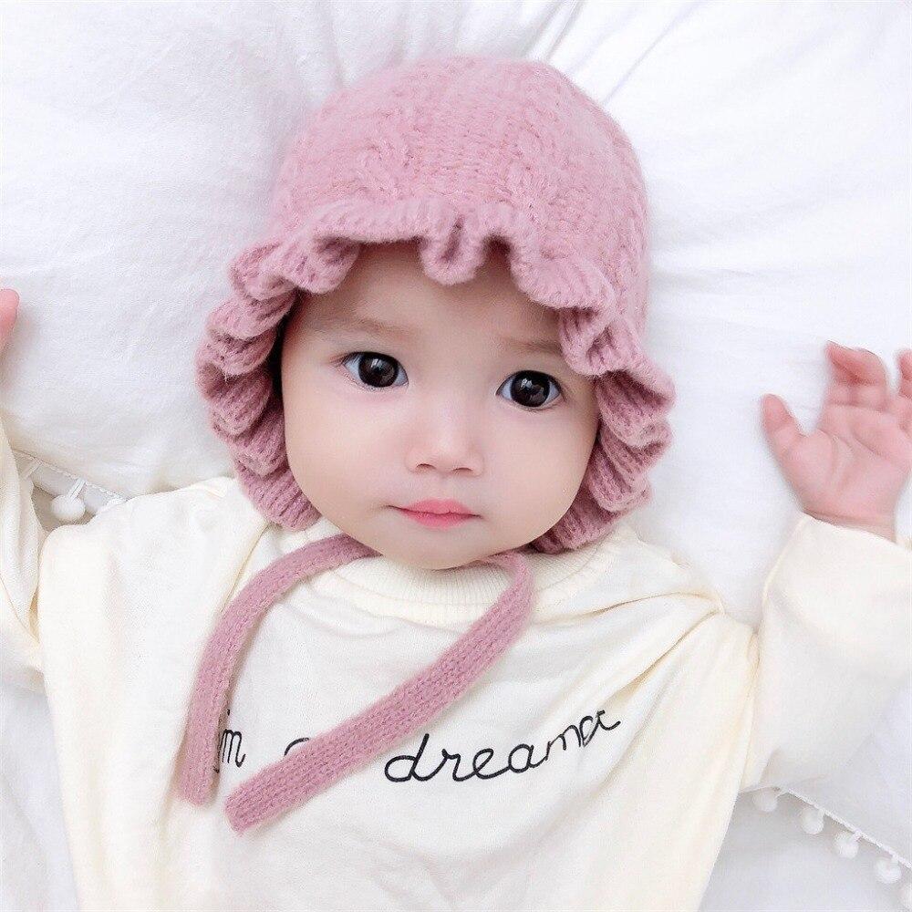 Recien Nacido beb/é Punto Sombrero Dibujos Animados Lindo Sombrero de Lana ni/ños ni/ñas Gorro de Bola de Pelo oto/ño e Invierno Casual Sombrero c/álido
