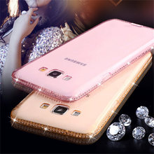 Bling Diamond Case for Samsung Galaxy A6 2018 S8 S9 Plus S6 S7 Edge S5 A3 A5 A7 J1 J3 J5 J7 2016 2017 Rhinestone Phone Cases(China)