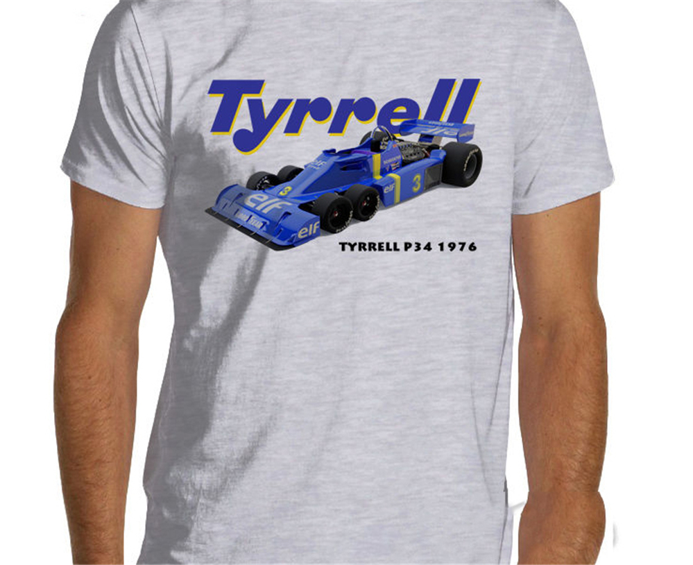 <font><b>F1</b></font> 1976 Tyrrell P34 Racing <font><b>T</b></font> <font><b>Shirt</b></font> Men Women Formula One Oversized Tops Tee <font><b>Shirt</b></font> image