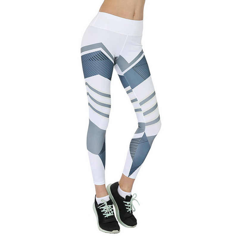 geometric white leggings
