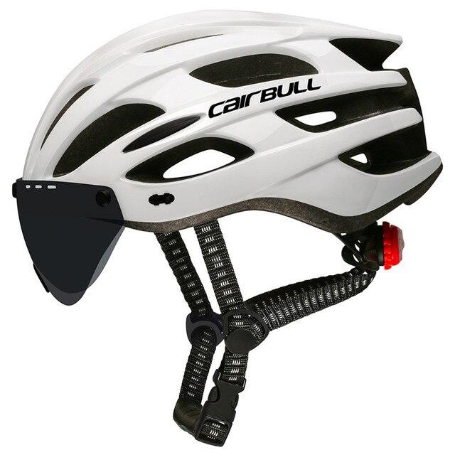 Oad ciclismo capacete luz da cauda integralmente moldado capacetes mtb bicicleta capacete ultraleve com visor removível óculos de proteção 3