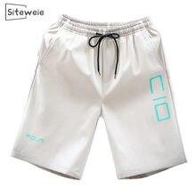 Siteweie 2020 calções de verão dos homens calções casuais troncos de fitness treino praia shorts homem respirável algodão ginásio calças curtas l157