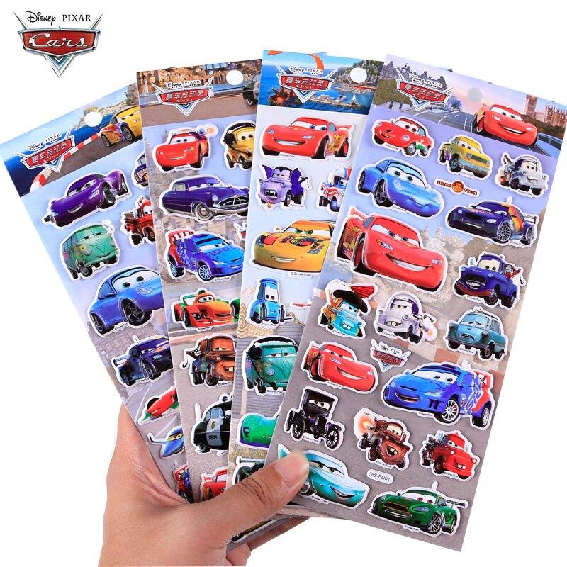 Pegatina de coches de Disney Pixar Original, Rayo McQueen Jackson, tormenta negra, pegatinas de burbujas, pegatinas de grafiti con personalidad, 10 Uds.
