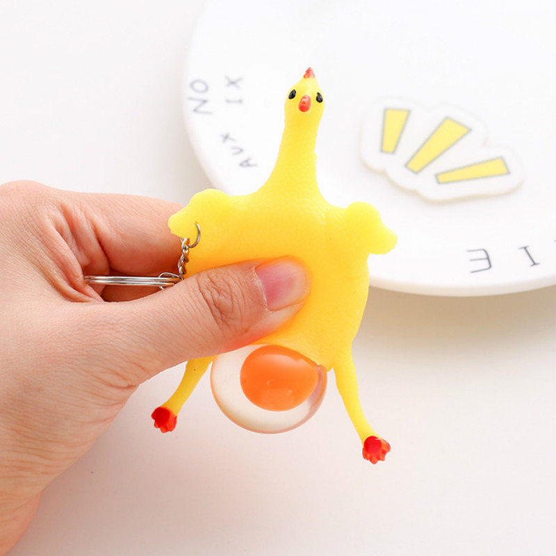 Fidget-Toys Chicken-Keychain Decompression Squeeze Fun Adult Children's Creative Egg img3