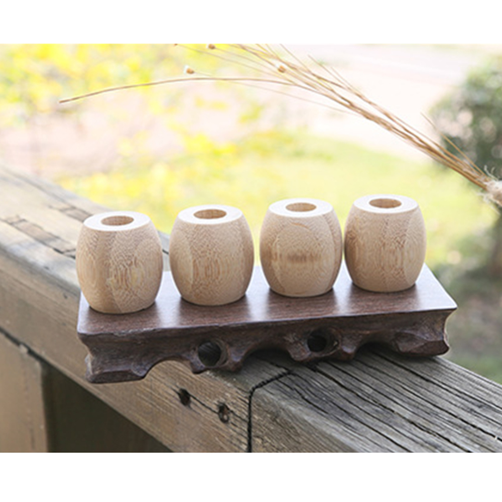 New Bamboo Toothbrush Holder Stands Toothbrush Accessories Tools Natural Wooden toothbrush Framework Bamboo Travel case image