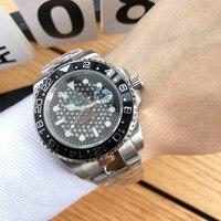Herren Uhr Top Marke Luxus Uhr Sub Uhr Automatische Mechanische Sport Uhr Sapphire Glas Alle Stahl Uhr Retro Uhr