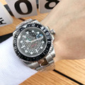 Relógio masculino marca superior relógio de luxo sub relógio automático mecânico esportes relógio de vidro safira todo o aço relógio retro