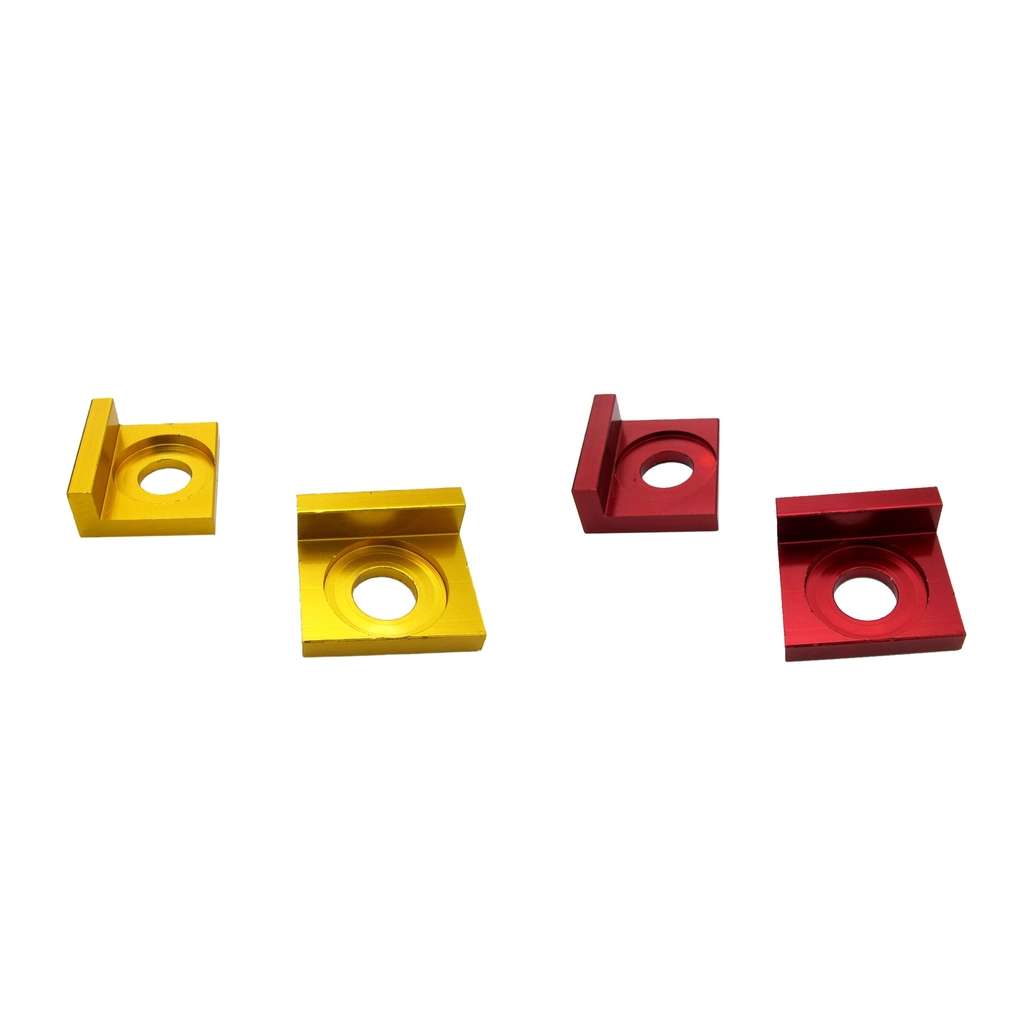 15mm CNC Alloy <font><b>Pitbike</b></font> Chain Axle Tensioner Adjuster for 110cc <font><b>125CC</b></font> Motorcycle Red & Gold image