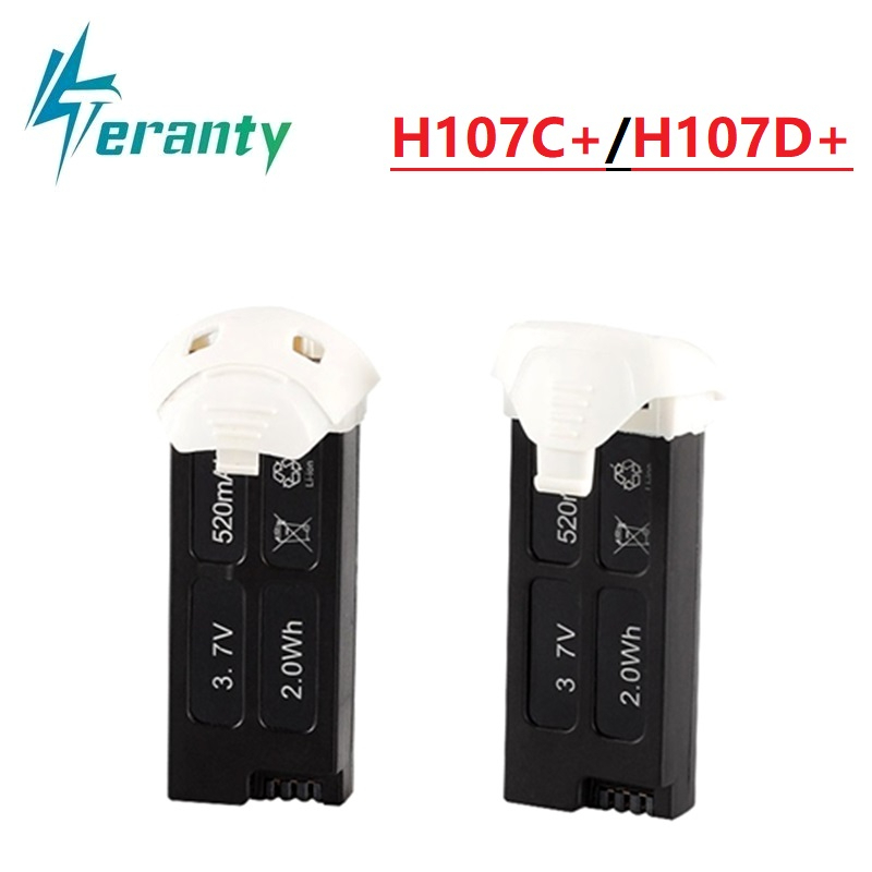 3.7v 520mah Lipo <font><b>battery</b></font> for <font><b>Hubsan</b></font> X4 H107D+ <font><b>H107C</b></font>+ 3.7V 520mAh 2.0Wh <font><b>Battery</b></font> for RC Quadcopter Spare Parts Accessories image